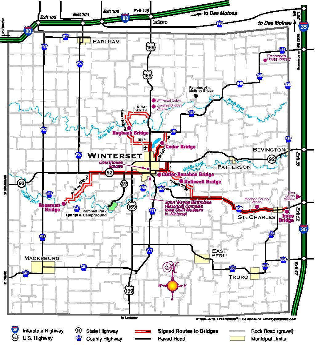 map of madison county iowa Madison County Map 2016 10 24 Madison County Iowa Chamber map of madison county iowa