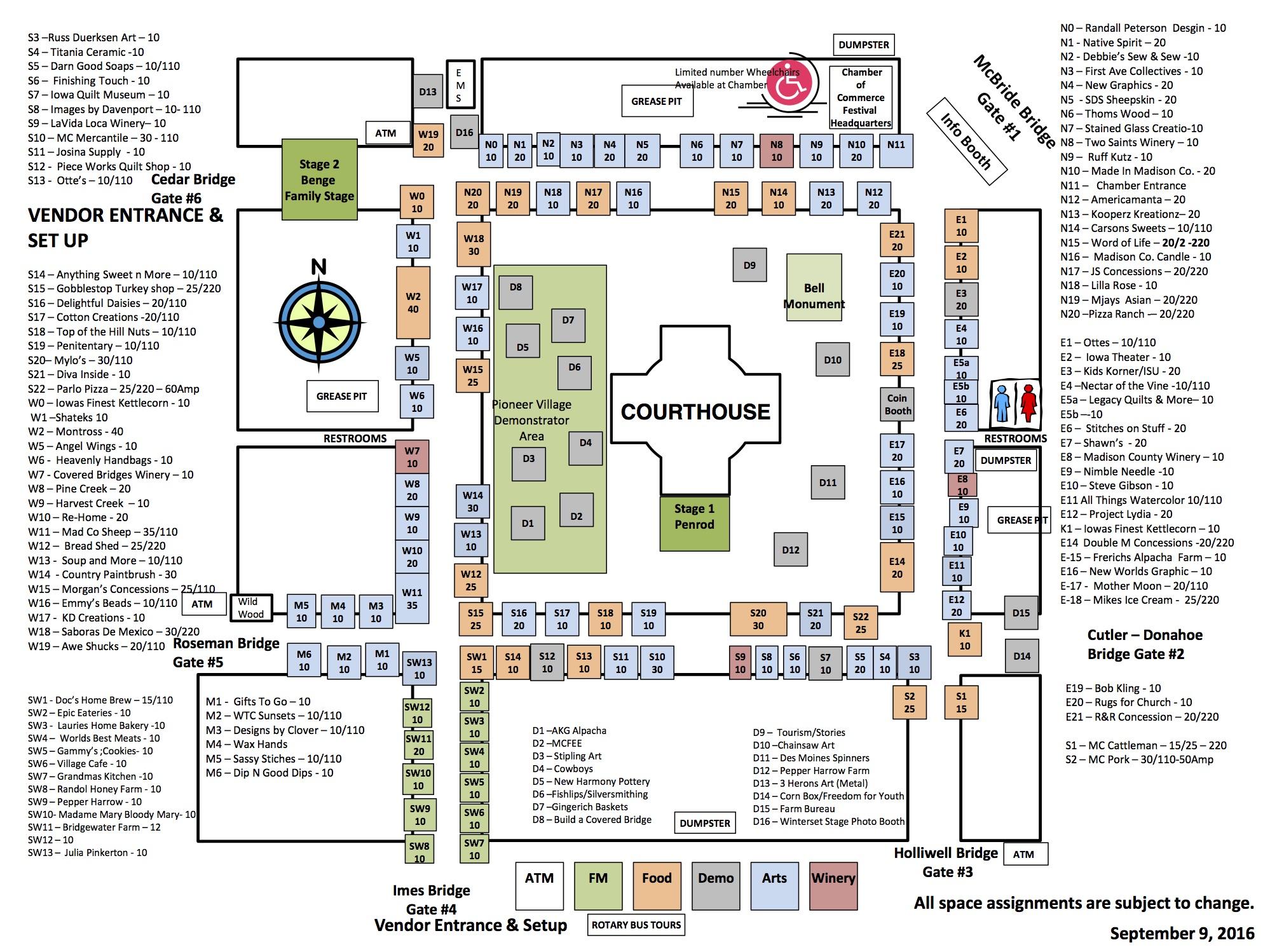 CBF Vendor Map 2016-2