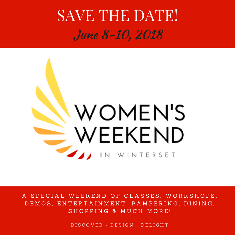 June 8-10, 2018: Women's Weekend in Winterset