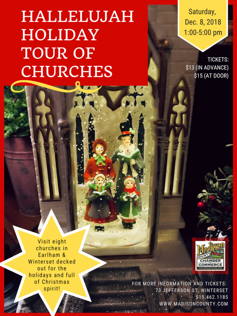 December, 2019 (Date TBA): Hallelujah Holiday Tour of Churches